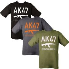 MENS 100% COTTON T-SHIRT AK47 SNIPER RIFLE RUSSIAN KALASHNIKOVA GUN ARMY S-2XL