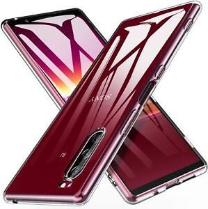 For Sony Xperia L4 1 10 II 5 L1 L3 XZ3 Clear Gel Phone Case Cover + Screen Guard