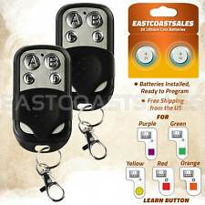2 For Chamberlain Liftmaster Garage Door Opener Remote 891Lm 893Lm Keychain