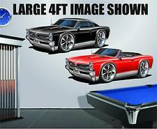 1966-7 Pontiac GTO 389 Tri-Power 4ft Long Wall Graphic Decal Sticker Man Cave