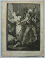 """STAHLSTICH """"Die BARTHOLOMAEUS NACHT"""" SCHILLER 1839 ca. 10,5 x 14 cm Geissler"""