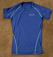 TESLA blue compression short sleeve shirt size M