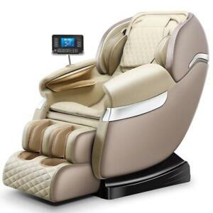 Massage Chair Latest Leather Touch Screen Technology Zero Gravity Cover Shiatsu