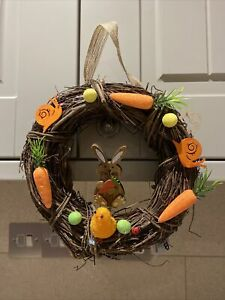 easter wreath bunny lovely chunky wreath and decorations !