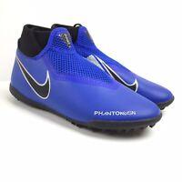 Nike Phantom Vision Academy DF TF Turf Soccer Shoes Big Boys 6 Blue-Black-Silver