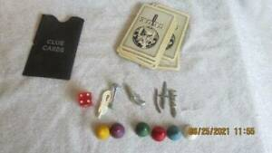 Vintage 1972 CLUE Board Game Replacement Parts & Pieces