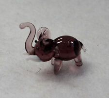 a gray elephant MINIATURE ART GLASS FIGURINE little tiny mini ganz collectible