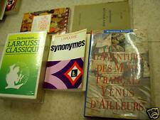 lot de 5 dictionnaires larousse mythologie synonymes