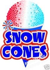 "Snow Cones Decal 14"" Sno Kones Shaved Ice Concession Food Truck Vinyl Sticker"