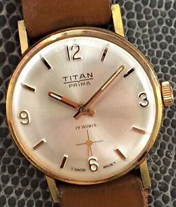 NOS New Titan Prima Fhf 82 Hand Manual 1 1/8in FHF82 Swiss Vintage Watch Watch