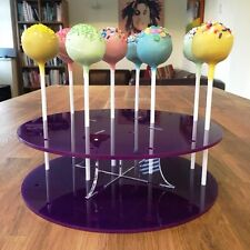 Cake Pop Stand Round - Purple, Sizes - Standard 16 Hole or Large 32 hole