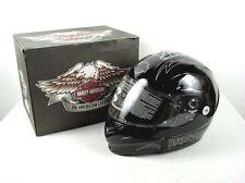 Mint Harley Davidson DURANGO 2 Way Flip Up Full Face Motorcycle Helmet Black M