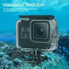 60m Underwater Waterproof Case Protective Shell Housing for Gopro Hero 8 Black
