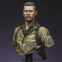 1/16 Unpainted WW2 Tanker commander Bust Resin Kits GK Unassembled