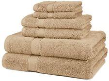 Brown Bathroom Towel Set 100% Egyptian Cotton 6pc Bath NEW Wash Cloth