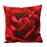 45x45cm 3D Red Rose Pillow Case Cushion Cover Bedroom Throw Home Decoration New