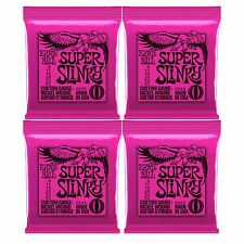 Ernie Ball Super Slinky Nickel Wound Electric Guitar Strings 9-42, 4 sets