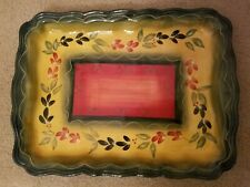 "Tabletop Gallery La Province Rectangular Serving Tray Platter 16 1/4 "" x 12"""