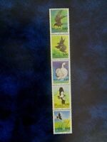 DENMARK 1986 BIRDS 5v SE-TENANT STRIP MNH MINT