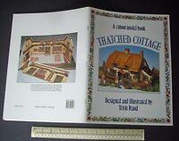 Thatched Cottage Card Cut-Out Model Book 1986 Vintage. Trish Rand Design