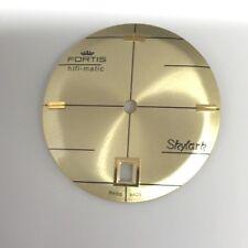 NOS DIAL FOR VINTAGE MEN'S FORTIS HIFI-MATIC SKYLARK DATE AUTOMATIC GOLDEN