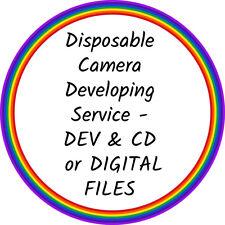 Disposable Camera Developing/Processing Service - DEV & CD / DIGITAL FILES