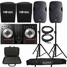 "Pioneer DDJ-SB3 Serato Starter DJ Controller Pack w Case + 12"" Speakers + Stands"