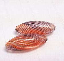 4pc 28x10mm blown glass fancy beads-6150
