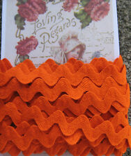 "5 yd ~1/2"" Vintage Orange Cotton Ric Rac Trim~doll rick rack ~ new/old stock"