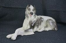 "Goldscheider BORZOI / RUSSIAN WOLFHOUND Porcelain Figurine - Large 13 5/8"" Long"