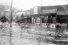 NF 366 - Horse Drawn Hearse, Prince Of Wales Road, Norwich Floods, Norfolk