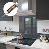 Glass Splashbacks Anthracite Grey and Glass Upstands - Made By Premier Range