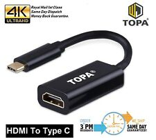 Type C USB-C Ports to 4K HDMI Cable Adapter For Tablet Macbook Pro Black