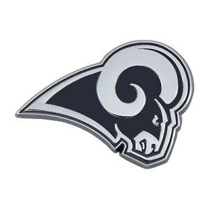 Fanmats NFL Los Angeles Rams Diecast 3D Chrome Emblem Car Truck Del. 2-4 Days