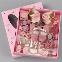 18Pcs/Set Baby Girls Hair Band Kids Hairpin Headwear Bow Clip Elastic Ring Gifts