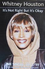 "40x60"" Subway Poster~Whitney Houston 1999 It's Not Right But It's Okay Original~"
