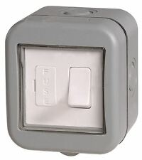 BG Weatherproof IP55 1 Gang Switched Fused Outdoor Connection Unit With Cover