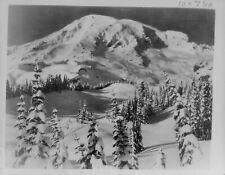 1934 Mount Rainier Covered In Snow Press Photo