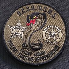 US Marshals Service - Orange County SO VFA-Felony Squad OD 3GEN patch Very Rare