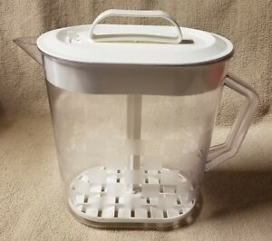 THE PAMPERED CHEF QUICK STIR 4 Quart 1 Gallon PITCHER 2275 Checkerboard Pattern