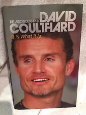 Rare Signed First Edition 1st Print David Coulthard It is What It Is; Formula 1