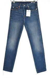 Womens Levis WEDGIE ICON SKINNY High Rise Dark Blue Stretch Jeans Size 6 W25
