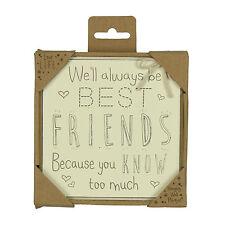 Best Friend Square Decorative Plaques & Signs