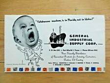 1950s General Industrial Supply Ad Constance Bannister Baby Photos Fort Worth Tx