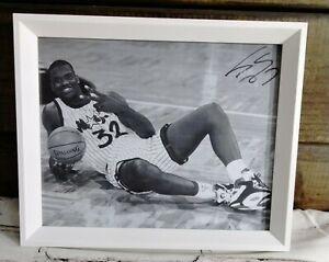 "NBA Orlando Magic Lakers Shaquille O'neal Shaq Signed 8"" x 10"" Photo  MVP HOF"