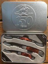 Winchester 150 Years 3pcs Pocket Folding Knife Set with Ersatz Gem Inlays 3196