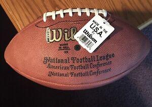 JOE MONTANA Autographed NFL WILSON Football with Upper Deck COA