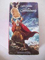 THE TEN COMMANDMENTS  2 TAPE SET CHARLTON HESTON, YUL BRENNER 1956/1990 VHS