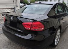 REAR TRUNK SPOILER Lip PAINTED BLACK L041 - BLOW MOLDED ABS - for VW PASSAT B7