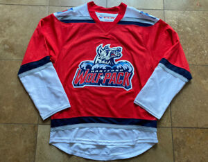 Vintage Hartford Wolfpack AHL Minor League CCM Red Hockey Jersey Mens/Adult Sm